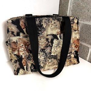 Cat Lovers Brocade Large Tote Bag